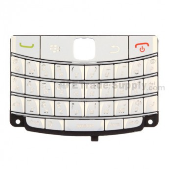 For BlackBerry Bold 9700 QWERTY Keypad Replacement ,White - Grade S+