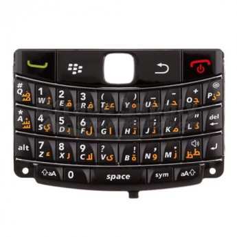 For BlackBerry Bold 9780 Keypad Replacement (Arabic) ,Black - Grade S+