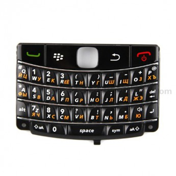 For BlackBerry Bold 9780 Keypad Replacement (Russian) ,Black - Grade S+