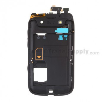 For BlackBerry Bold 9790 Rear Housing Replacement - Black - Grade S+