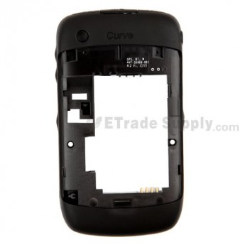 For BlackBerry Curve 3G 9300 Rear Housing Assembly Replacement ,Black - Grade S+