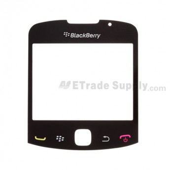 For BlackBerry Curve 3G 9330 Glass Lens Replacement - Black - Grade A
