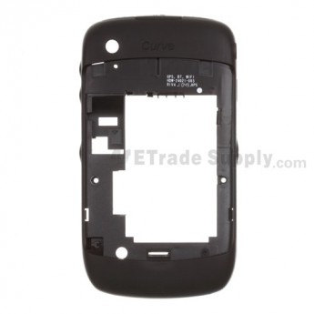 For BlackBerry Curve 3G 9330 Rear Housing Assembly Replacement - Black - Grade S+
