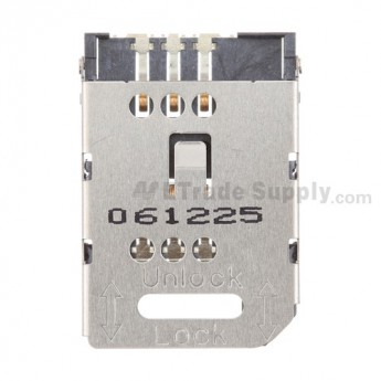 For BlackBerry Curve 8300, 8310, 8320, 8330 SIM Card Reader Contact with Bracket Replacement - Grade S+