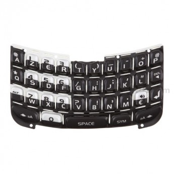 For Blackberry Curve 8300, 8310, 8320 AZERT Keypad Replacement ,Black - Grade S+