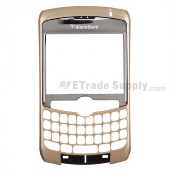 For BlackBerry Curve 8300, 8310, 8320 Front Housing with Lens Replacement ,Gold - Grade S+
