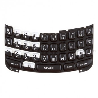 For BlackBerry Curve 8300 Keypad Replacement ,Silver - Grade S+