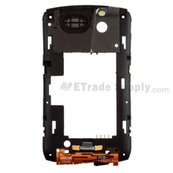 For BlackBerry Curve 8300 Rear Housing Assembly Replacement ,Black - Grade S+