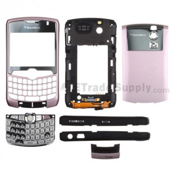 For Blackberry Curve 8330 Complete Housing Including Some Aftermarket Parts Replacement - Pink - Grade S+