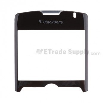 For Blackberry Curve 8330 Glass Lens with Adhesive Replacement ,Black - Grade S+