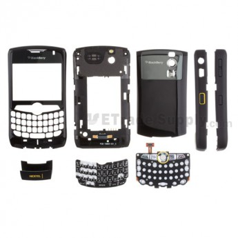 For BlackBerry Curve 8350i Complete Housing Replacement (NEXTEL) ,Black - Grade S+