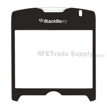 For BlackBerry Curve 8350i Glass Lens with Adhesive Replacement ,Black - Grade S+