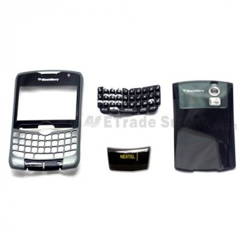 For BlackBerry Curve 8350i Housing Replacement (NEXTEL) ,Black - Grade S+