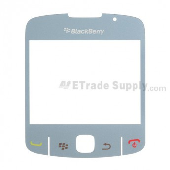 For BlackBerry Curve 8520, 8530 Glass Lens with Adhesive Replacement ,Light Blue - Grade S+