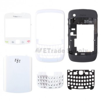 For BlackBerry Curve 8520 Housing Replacement ,Black - Grade S+