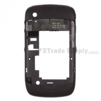 For BlackBerry Curve 8520 Rear Housing Assembly Replacement - Black - Grade S+
