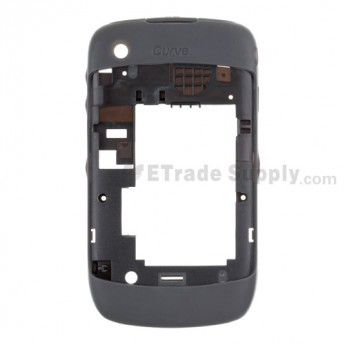 For BlackBerry Curve 8520 Rear Housing Shell Replacement ,Black - Grade S+