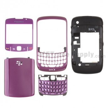 For BlackBerry Curve 8530 Housing Replacement (Sprint) ,Black - Grade S+