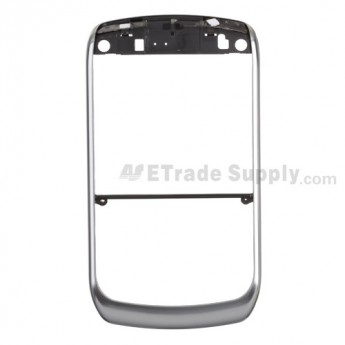 For BlackBerry Curve 8900 Chrome Bezel with Mute Button and Lock Button Replacement ,Silver - Grade S+