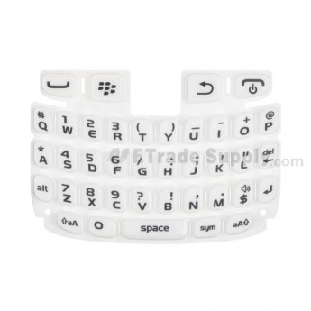 For BlackBerry Curve 9220, 9320 QWERTY Keypad  Replacement ,White - Grade S+