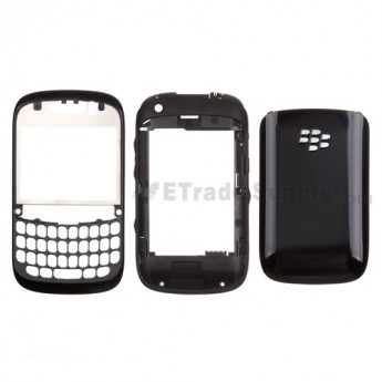 For BlackBerry Curve 9220 Housing Replacement - Black - Grade S+