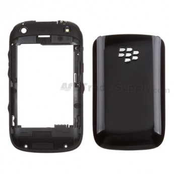 For BlackBerry Curve 9320 Rear Housing and Battery Door Replacement ,Black - Grade S+