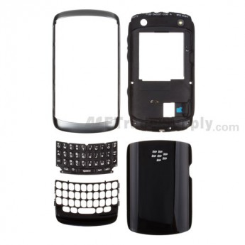 For BlackBerry Curve 9350 Housing Replacement - Black - Grade S+
