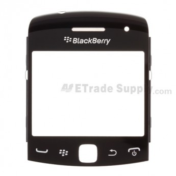 For BlackBerry Curve 9360/9350/9370 Glass Lens with Frame Replacement - Black - Grade A