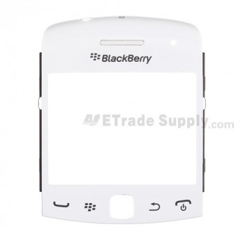 For BlackBerry Curve 9360, 9350, 9370 Glass Lens with Frame  Replacement ,White - Grade S+