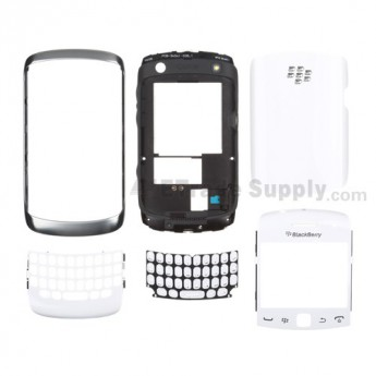 For BlackBerry Curve 9360 Complete Housing Replacement - White - Grade S+