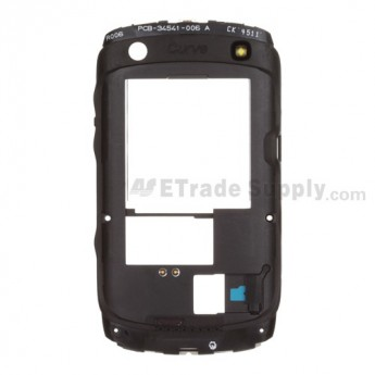 For BlackBerry Curve 9360 Rear Housing Replacement - Black - Grade S+