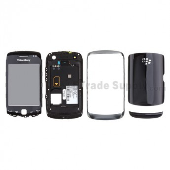 For BlackBerry Curve 9380 Complete Housing Replacement ,Black - Grade S+