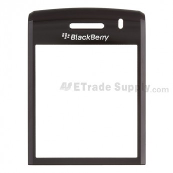 For BlackBerry Pearl 3G 9100 Glass Lens Replacement - Black - Grade S+