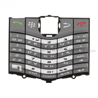 For Blackberry Pearl 8130 Keypad Replacement ,Gray - Grade S+