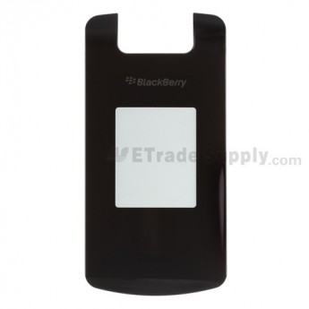 For BlackBerry Pearl Flip 8220 Caller ID Glass Lens with Adhesive Replacement - Black - Grade A
