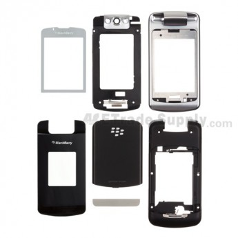For BlackBerry Pearl Flip 8220 Housing Replacement ,Black - Grade S+