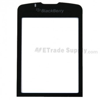 For BlackBerry Pearl Flip 8220 Main Glass Lens with Adhesive Replacement - Silver - Grade A