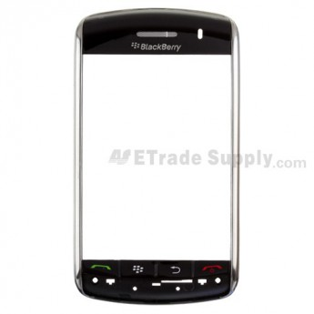 For BlackBerry Storm 9500, 9530 Bezel Set with Top Cover and Navigator Keyset Replacement ,Silver - Grade S+