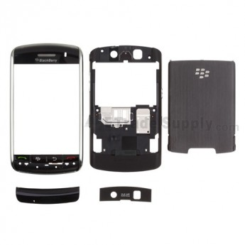 For BlackBerry Storm 9500, 9530 Housing Replacement ,Black - Grade S+