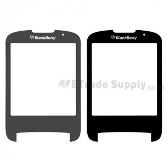 For BlackBerry Style 9670 Main Glass Lens Replacement ,Black - Grade S+