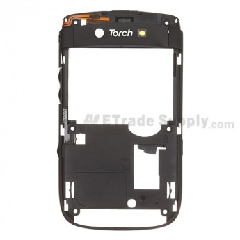 For BlackBerry Torch 2 9810 Rear Housing Replacement ,Black - Grade S+