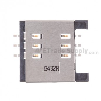 For BlackBerry Torch 2 9810 SIM Card Reader Contact with Bracket Replacement - Grade S+