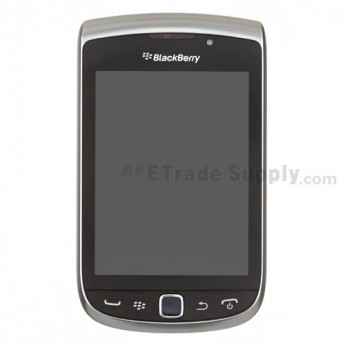 For BlackBerry Torch 2 9810 Upper Slide Assembly with LCD and Digitizer Replacement - Silver - Grade S+