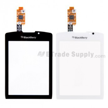 For BlackBerry Torch 9800 Digitizer Touch Screen with Adhesive Replacement - Black - Grade A