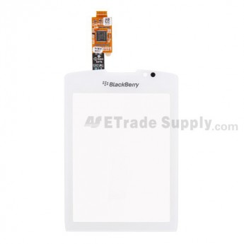 For BlackBerry Torch 9800 Digitizer Touch Screen with Adhesive Replacement - White - Grade S+