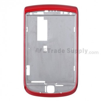 For BlackBerry Torch 9800 Front Housing Replacement - Black - Grade S+