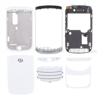 For BlackBerry Torch 9800 Housing Replacement (AT&T) ,White - Grade S+
