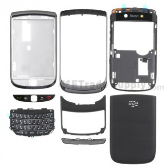 For BlackBerry Torch 9800 Housing Replacement ,White - Grade S+