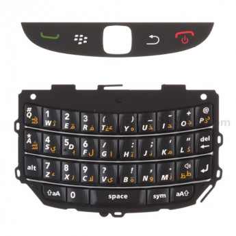 For BlackBerry Torch 9800 Keypad Replacement (Arabic) ,White - Grade S+