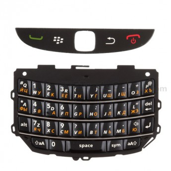 For BlackBerry Torch 9800 Keypad Replacement (Russian) ,Black - Grade S+